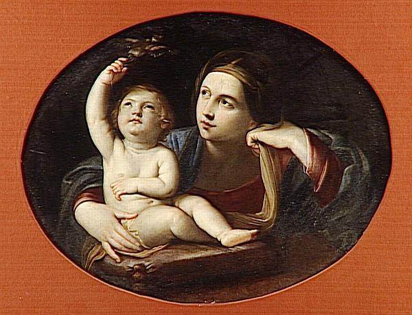 LA VIERGE A L'ENFANT TENANT UN OISEAU