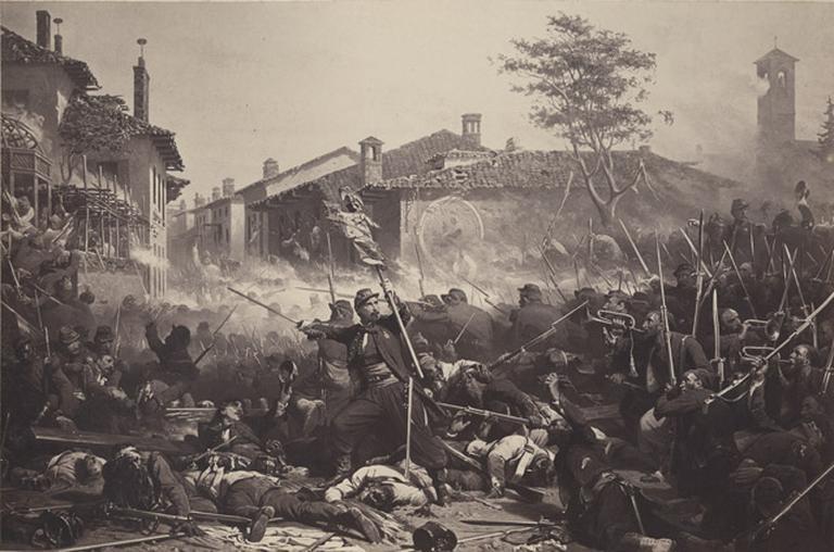Reproduction du tableau de Yvon, Magenta (4 juin 1859)_0