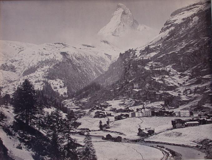 Vue Suisse. Zermat et le Mont Cervin_0