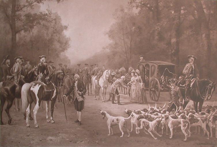 A. de Clermont-Gallerande. Une chasse de l'équipage de Conti. Les honneurs sont faits à une princesse d'Orléans_0