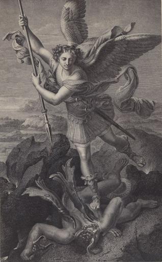 Reproduction de L'Archange Saint-Michel peint par Raphaêl