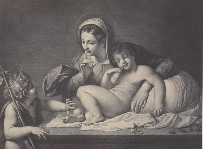 Reproduction de La Vierge au silence de Carrache (Musée du Louvre)_0