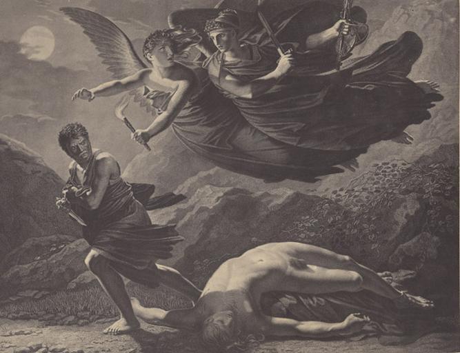 Reproduction de La Justice et La Vengeance divine poursuivant le Crime de Prud'hon (Musée du Louvre)_0