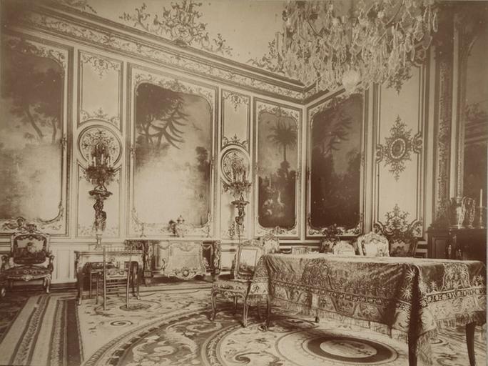 Chantilly, la chambre de M. le Prince et les peintures de Huet. 27_0