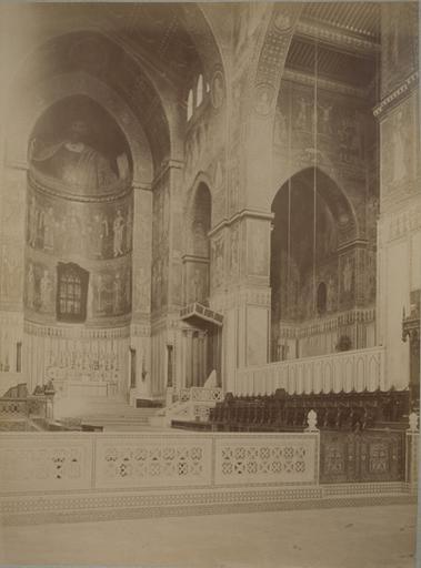 Intérieur de la cathédrale de Montréal (Sicile) 13 avril 1885