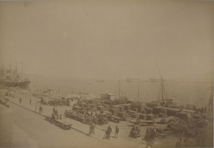 Le port de Messine (21 avril 1885)