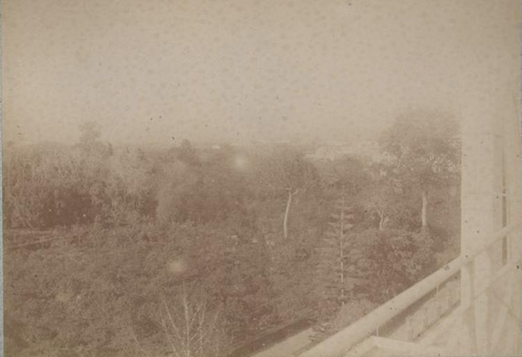 De la terrasse du duc d'Aumale. Villa d'Orléans. Palerme. 6 avril 1885