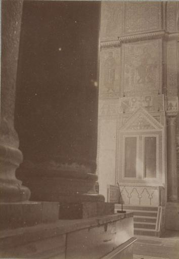 Le trône du Roi Roger, dans l'église de Montréal (Sicile) 13 avril 1885