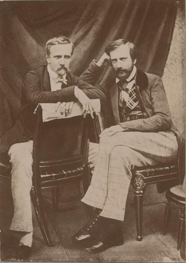 Le duc d'Aumale (1822-1897) et le prince de Joinville en 1848 à Claremont_0