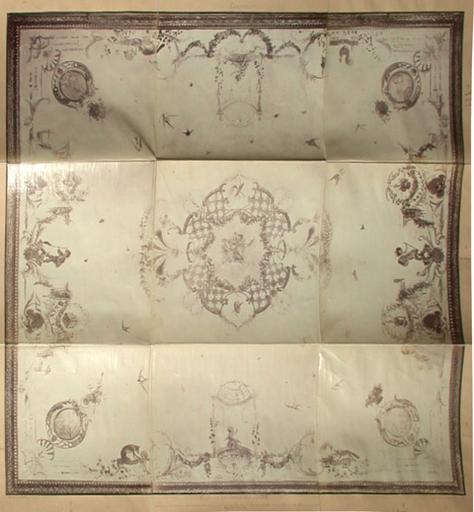 Plafond du salon des Singes