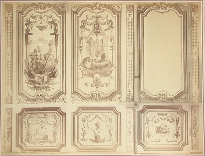 Fragments du cabinet des singerie. Montage