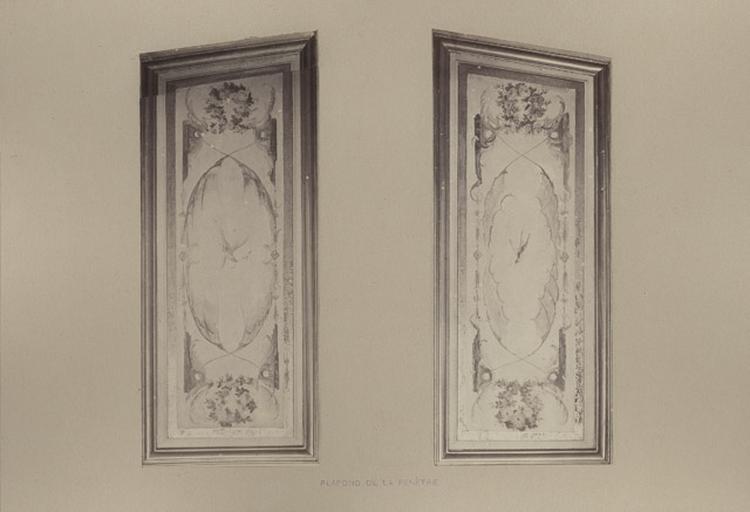 Fragments du cabinet des Singes. Plafond de la fenêtre_0