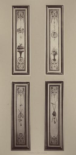 Fragments du cabinet des Singes ; panneaux des volets