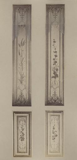 Fragments du cabinet des Singes (panneaux de la volets)