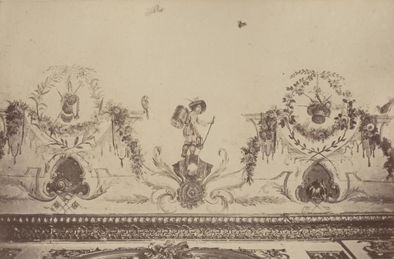 Fragments du cabinet des Singes (plafond)
