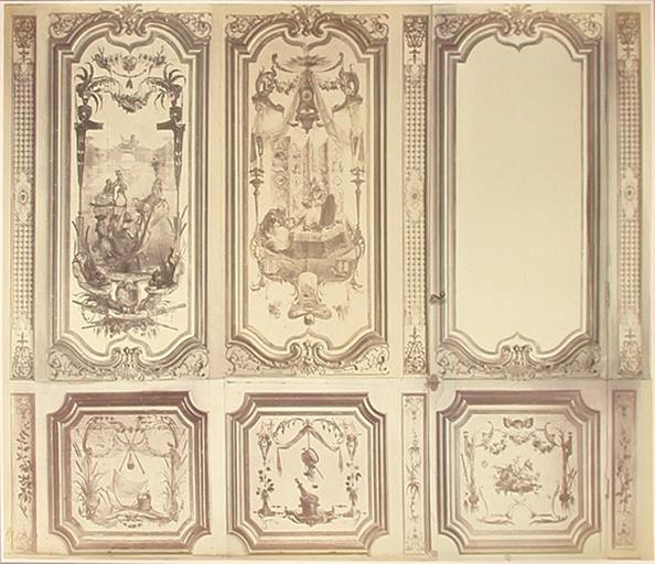 Fragments du cabinet des Singes (le traîneau, la toilette)_0