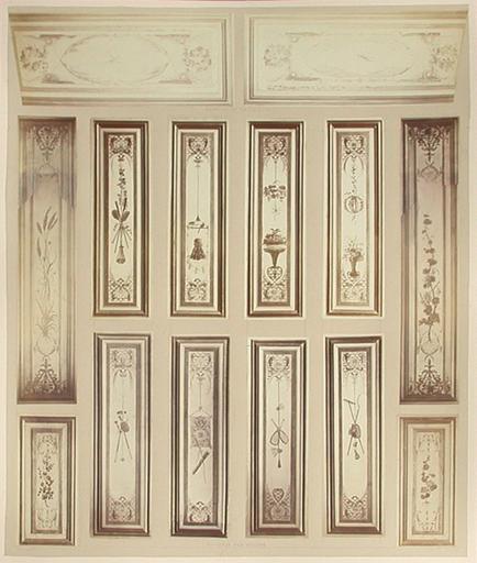 Fragments du cabinet des Singes (panneaux des volets)