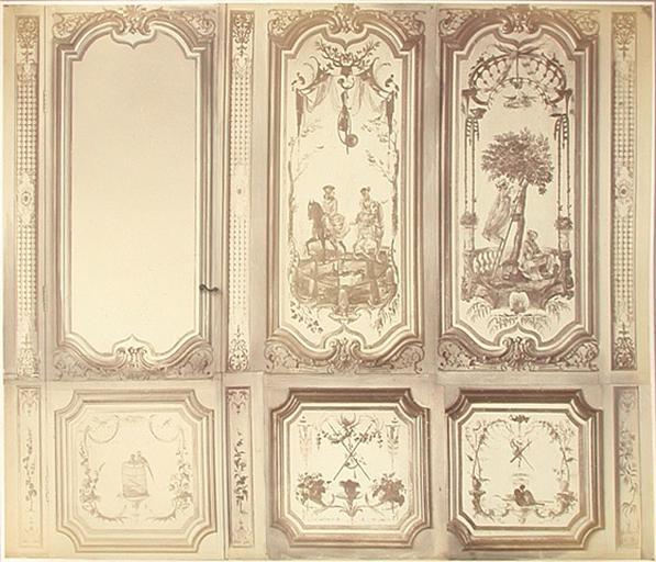 Fragments du cabinet des Singes (la porte, la chasse, la cueillette)