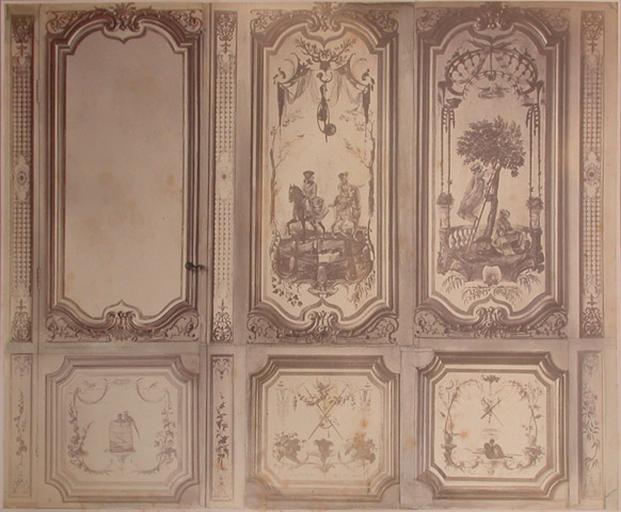 Fragments du cabinet des Singes (le bain, la glace, le jeu)
