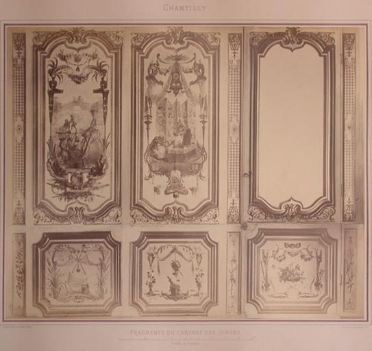 Fragments du cabinet des Singes (le traîneau, la toilette, la porte)_0