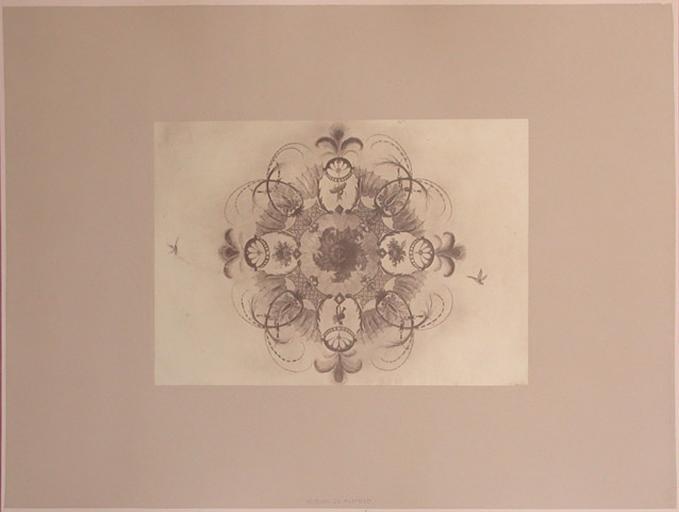 Fragments du salon Chinois (rosace du plafond)_0