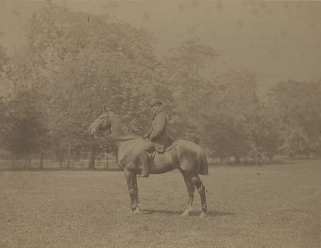 Le duc d'Aumale à cheval