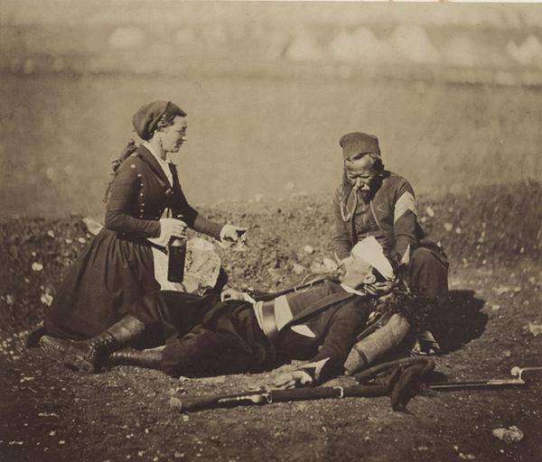 Wounded Zouave (au crayon sur le montage), Feb.y 29 th 1856_0