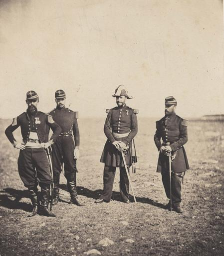 Général Beuret and officers of his Staff, March.y 25 th 1856_0
