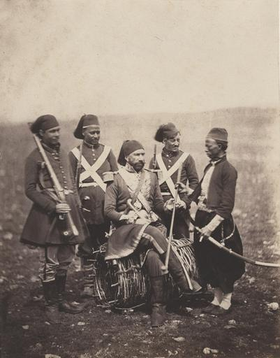 Ismail Pacha and Attendants. (titre inscrit), March. 25 th 1856_0
