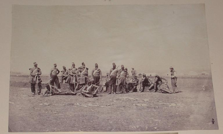 Scène de camp pendant la guerre de Crimée.1855_0