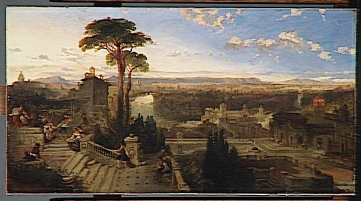 ROME, CREPUSCULE, VUE PRISE DU COUVENT SAN ONOFRIO SUR LE MONT JANICULE_0