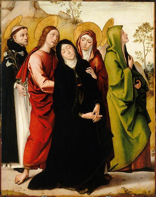 La Vierge, saint Jean, deux saintes femmes et saint Dominique de Guzman_0