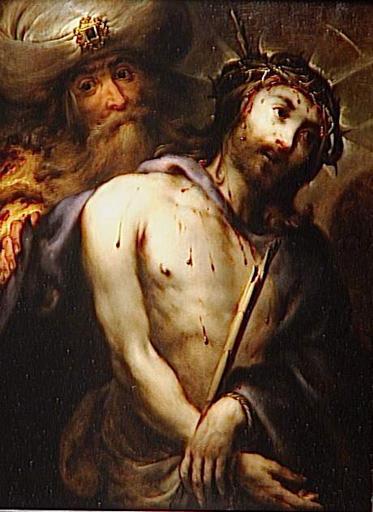 ECCE HOMO ou PILATE PRESENTANT LE CHRIST AU PEUPLE_0
