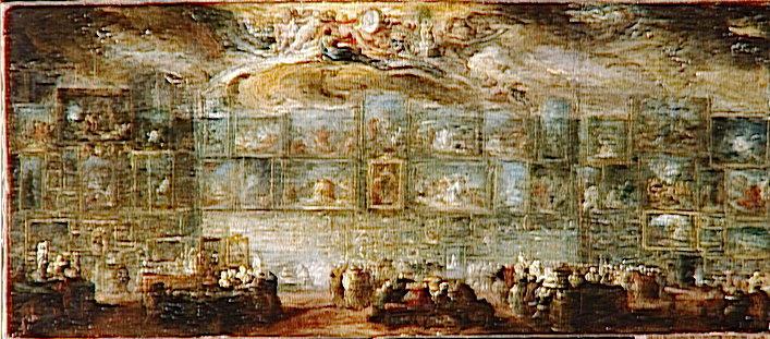 VUE DU SALON DU LOUVRE EN 1779