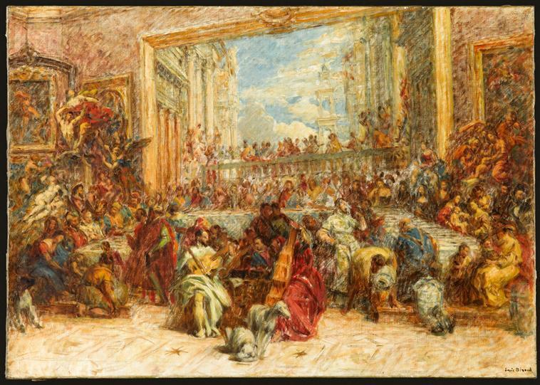 Au salon carré du Louvre_0