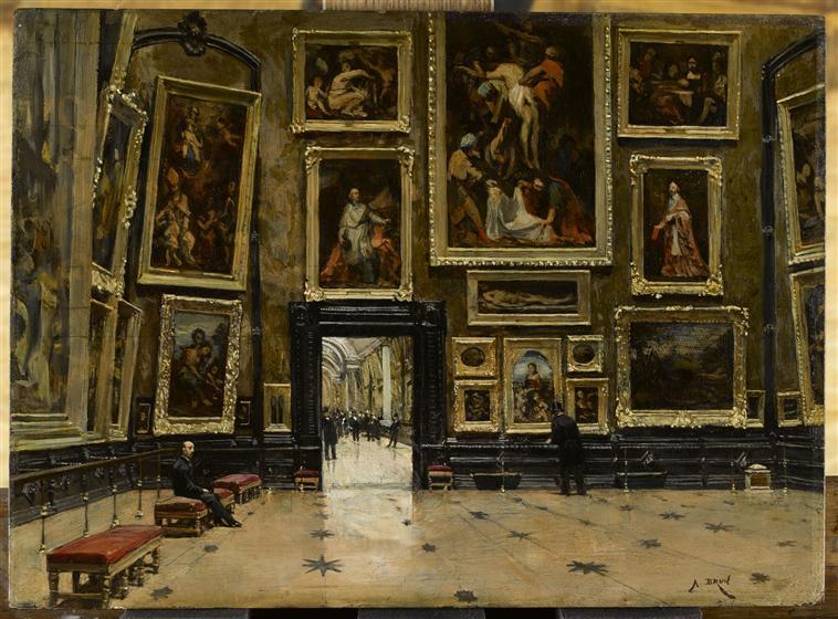 Vue du salon carré au Louvre_0