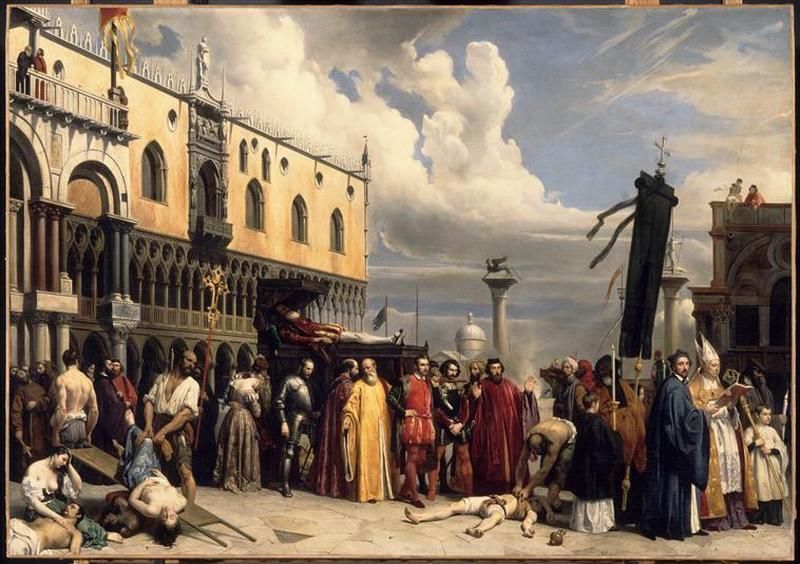 HONNEURS FUNEBRES RENDUS A TITIEN, MORT A VENISE PENDANT LA PESTE DE 1576_0