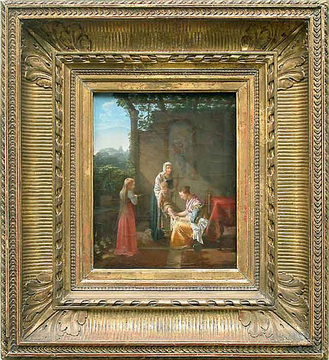 La toilette de saint Jean-Baptiste enfant