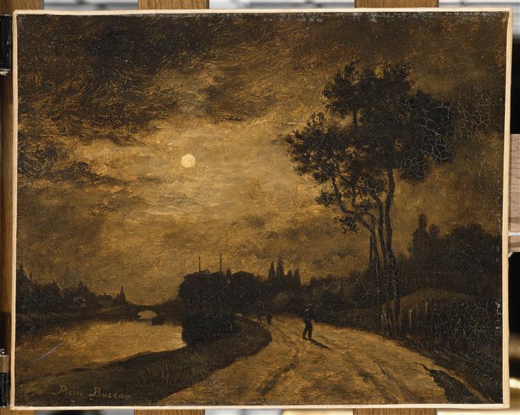 Clair de lune sur les bords de l'Oise à l'Isle-Adam_0