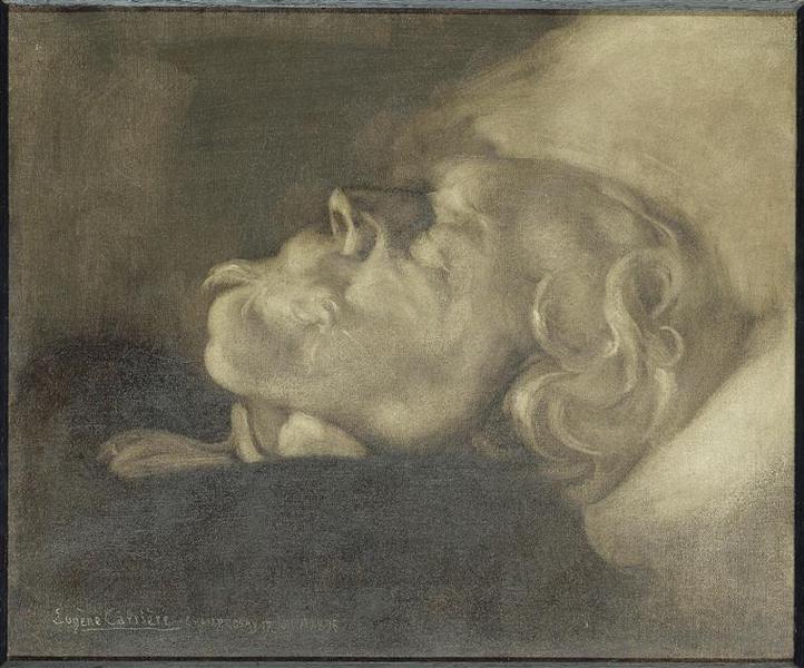 Edmond de Goncourt sur son lit de mort_0