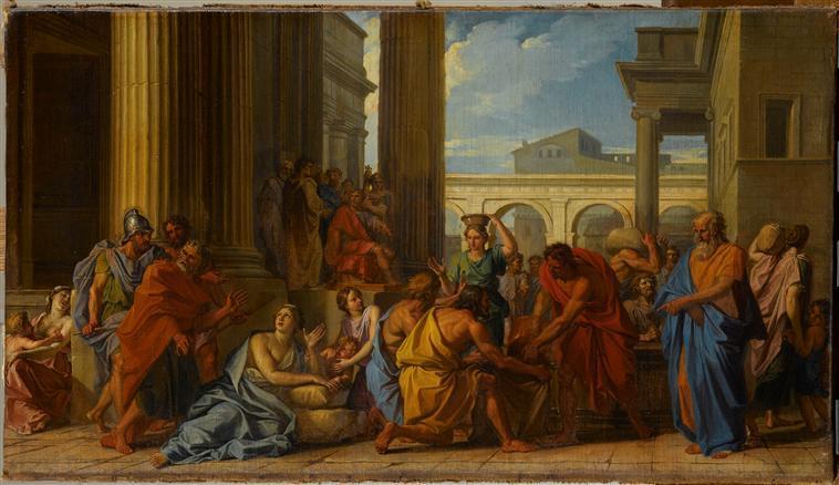 ALEXANDRE SEVERE FAISANT DISTRIBUER DU BLE AU PEUPLE DE ROME DANS UN TEMPS DE DISETTE_0