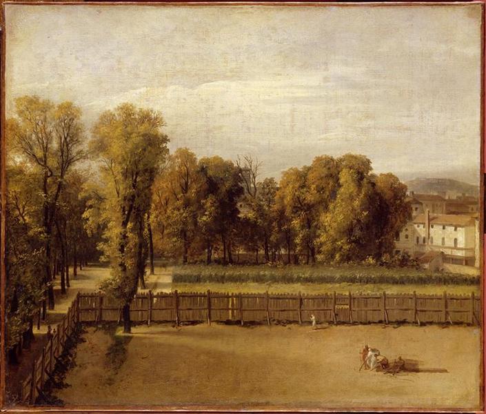 Vue du jardin du Luxembourg à Paris_0