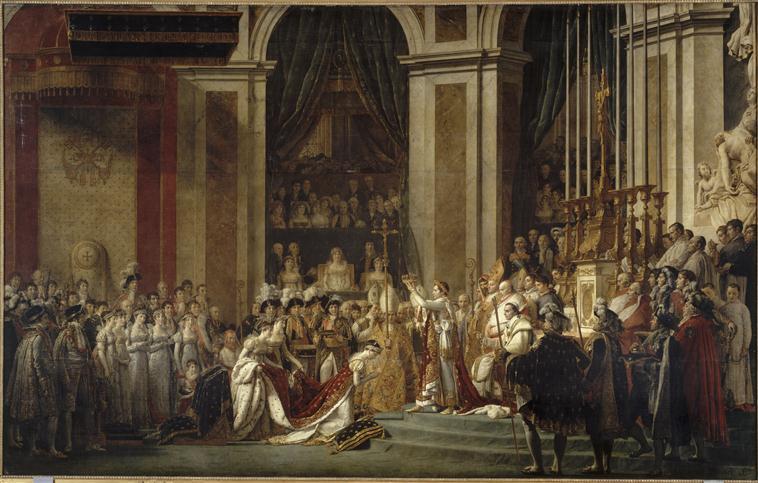 SACRE DE L'EMPEREUR NAPOLEON 1ER ET COURONNEMENT DE L'IMPERATRICE JOSEPHINE DANS LA CATHEDRALE NOTRE DAME DE PARIS LE 2 DECEMBRE 1804_0