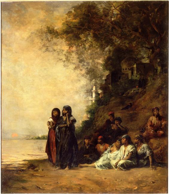 Souvenir d'Ezneh, dit aussi Femmes égyptiennes au bord du Nil_0
