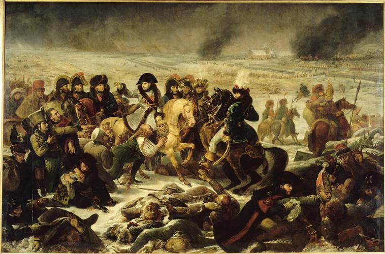 NAPOLEON SUR LE CHAMP DE BATAILLE D'EYLAU (9 FEVRIER 1807)_0