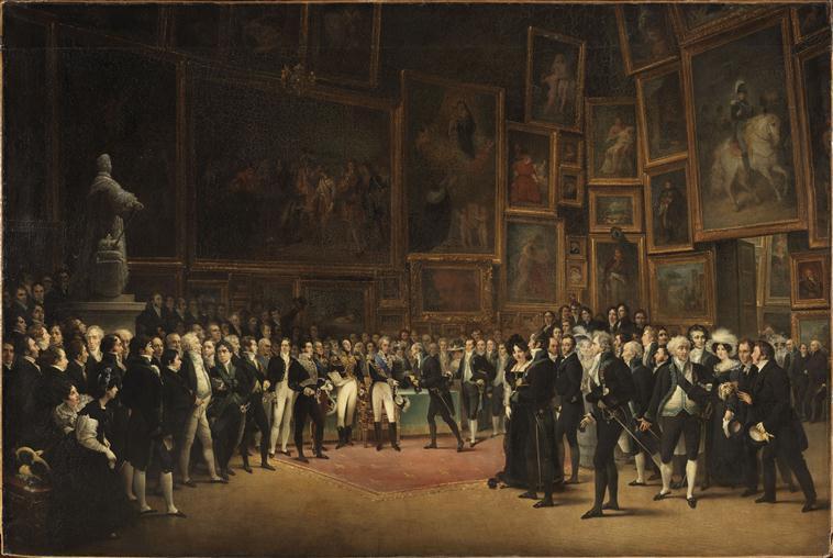 Charles X distribuant des récompenses aux artistes exposants du salon de 1824 au Louvre, le 15 janvier 1825_0