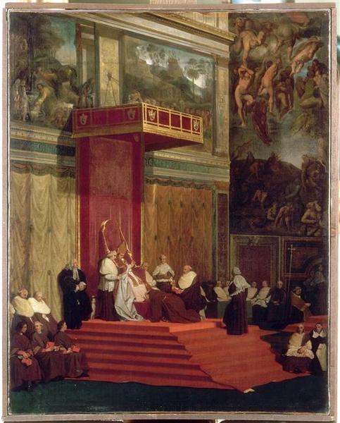 Le pape Pie VII tenant chapelle_0