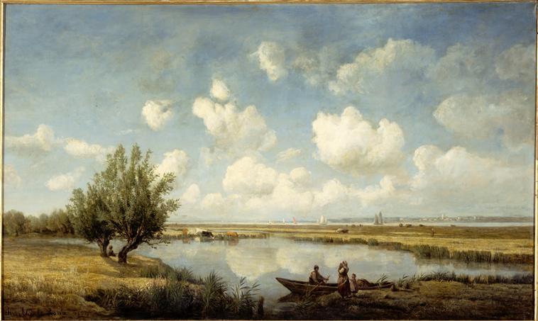Prairies et marais de Corsept, au mois d'août, à l'embouchure de la Loire_0