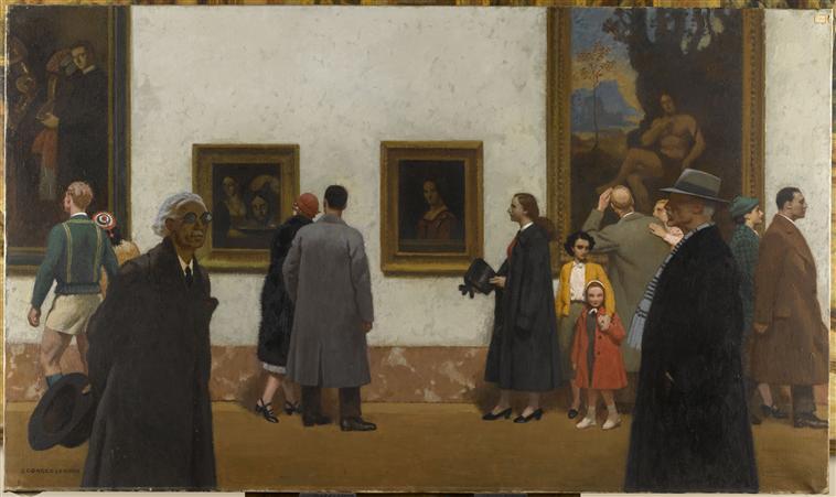 Vue de la grande galerie du Louvre_0