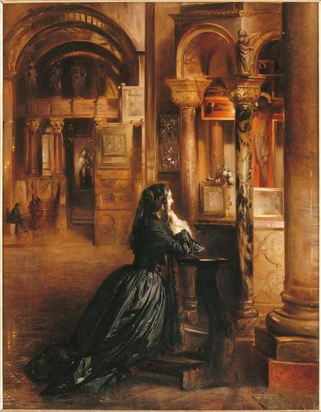 Femme en prière à Saint-Marc de Venise_0
